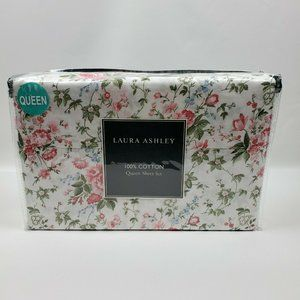 Laura Ashley LILIAN Shabby Chic Pink Florals White